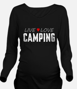 Live Love Camping Long Sleeve Maternity T-Shirt
