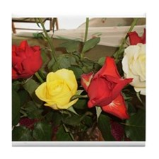 Unique Red roses Tile Coaster