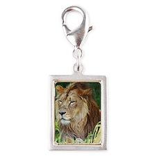 Lion Silver Portrait Charm
