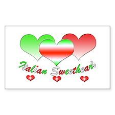 Italian Sweetheart Rectangle Decal