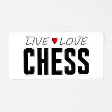 Live Love Chess Aluminum License Plate
