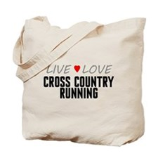 Live Love Cross Country Running Tote Bag