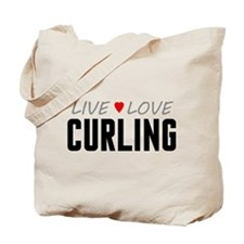 Live Love Curling Tote Bag