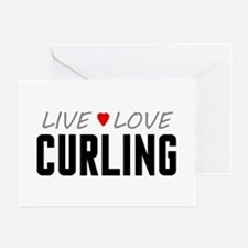 Live Love Curling Greeting Card