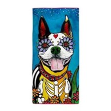 Gilroy The Boston Terrier Beach Towel