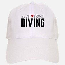 Live Love Diving Baseball Baseball Cap