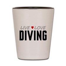 Live Love Diving Shot Glass
