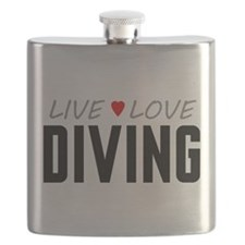 Live Love Diving Flask