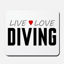 Live Love Diving Mousepad