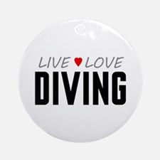Live Love Diving Round Ornament