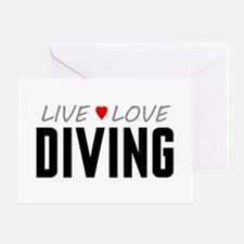 Live Love Diving Greeting Card