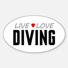 Live Love Diving Oval Decal