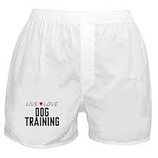 Live Love Dog Training Boxer Shorts
