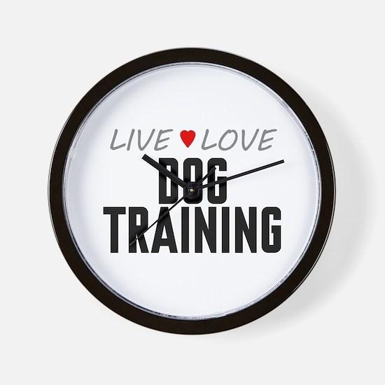 Live Love Dog Training Wall Clock