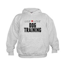 Live Love Dog Training Kid's Hoodie
