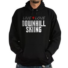 Live Love Downhill Skiing Dark Hoodie