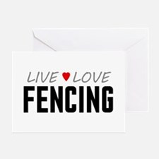 Live Love Fencing Greeting Card