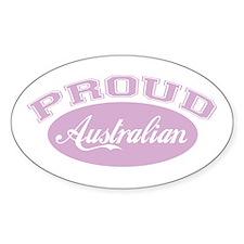 Proud Australian (pink) Oval Decal