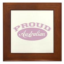 Proud Australian (pink) Framed Tile