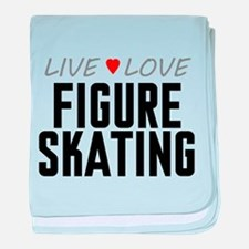Live Love Figure Skating Infant Blanket