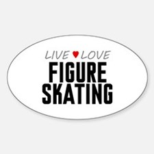 Live Love Figure Skating Oval Decal