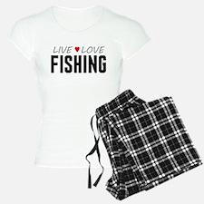 Live Love Fishing pajamas