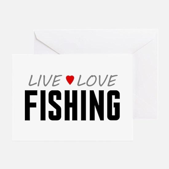 Live Love Fishing Greeting Card