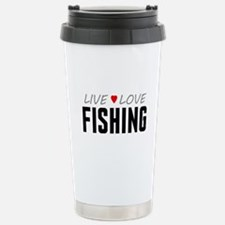 Live Love Fishing Ceramic Travel Mug