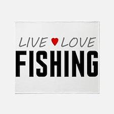 Live Love Fishing Stadium Blanket