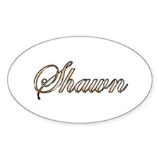 Gold Shawn Decal