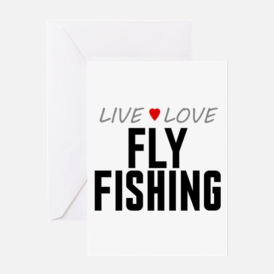 Live Love Fly Fishing Greeting Card