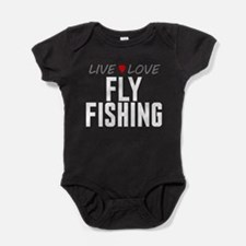 Live Love Fly Fishing Baby Bodysuit