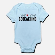 Live Love Geocaching Infant Bodysuit