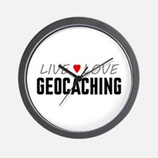Live Love Geocaching Wall Clock