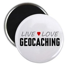 "Live Love Geocaching 2.25"" Magnet (10 pack)"