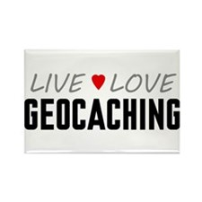 Live Love Geocaching Rectangle Magnet