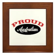 Proud Australian Framed Tile