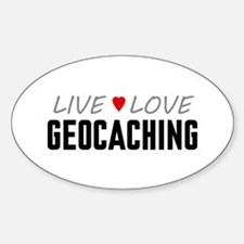 Live Love Geocaching Oval Decal