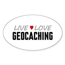 Live Love Geocaching Oval Stickers