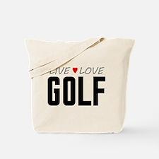 Live Love Golf Tote Bag