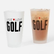 Live Love Golf Drinking Glass