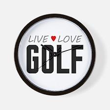 Live Love Golf Wall Clock