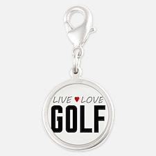 Live Love Golf Silver Round Charm