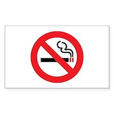 Classic No Smoking Rectangle Decal