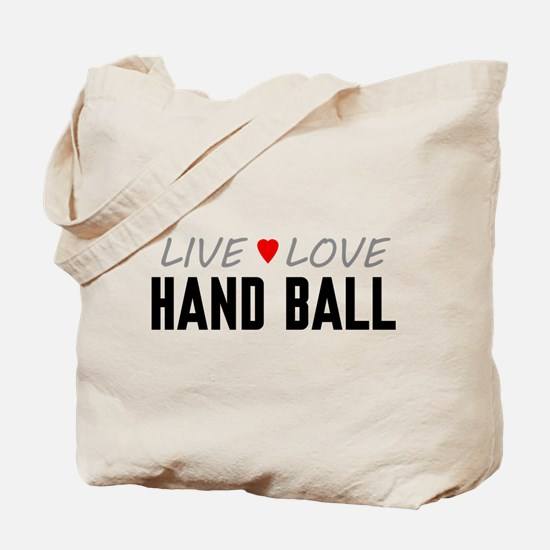 Live Love Hand Ball Tote Bag