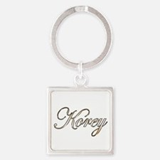 Gold Korey Square Keychain