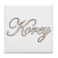 Gold Korey Tile Coaster