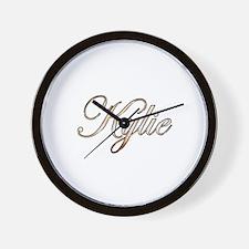 Gold Kylie Wall Clock