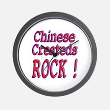 Chinese Cresteds Wall Clock