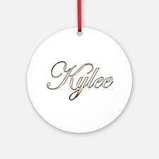 Gold Kylee Round Ornament